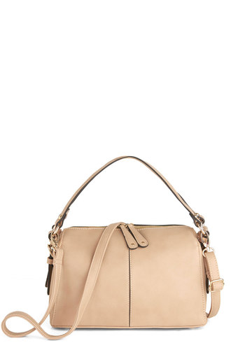 Afternoon Al Fresco Bag - Solid, Tan, Minimal, Faux Leather