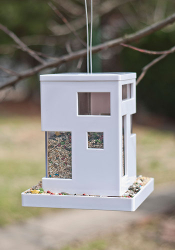Ahead of the Current Bird Feeder - White, Urban, Mod, Eco-Friendly, Good