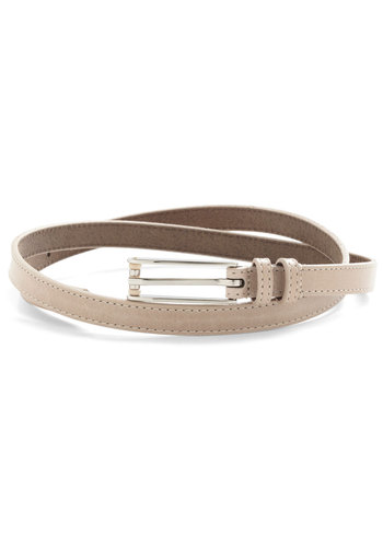 Neutral Remedy Belt - Cream, Solid, Minimal, Leather