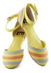 See You Soon Flat in Yellow by BC Footwear - Multi, Stripes, Flat, Spring, Variation