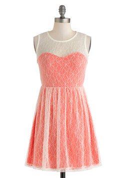 Coral Cocktails Dress