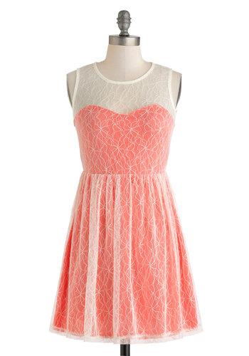 Coral Cocktails Dress