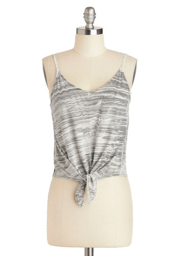 Modern Marble Top - Multi, Black, White, Pockets, Casual, Spaghetti Straps, Cotton, Short, Scoop, Summer, Travel