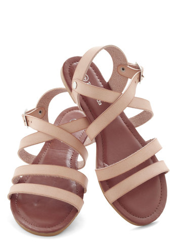 Beachside Breakfast Sandal in Sand - Tan, Beach/Resort, Summer, Flat, Casual, Variation, Good