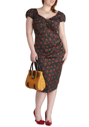 Cerise to the Occasion Dress in Plus