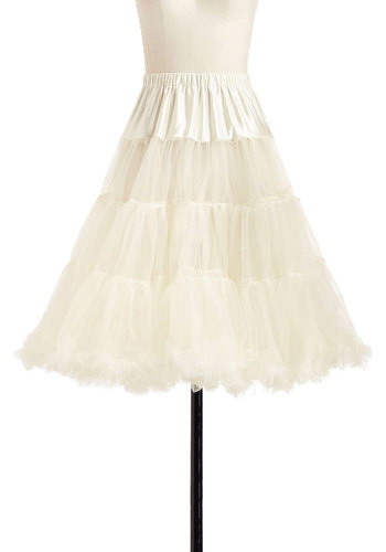 Va Va Voluminous Petticoat in Ivory - Cream, Solid, Tiered, Rockabilly, Pinup, Vintage Inspired, 50s, Luxe, Statement, Mid-length, Sheer, Variation, Best Seller, 60s, Valentine's, Wedding, Bride, Party, Best Seller, As You Wish Sale