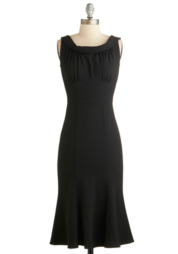 Doo-Wop Romance Dress by Stop Staring! - Long, Black, Solid, Cocktail, Sleeveless, Pinup, Vintage Inspired, 50s, Luxe, Exclusives, LBD, Shift