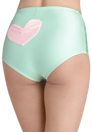 Taffy Pool Swimsuit Bottom by Lolli Swim - Green, Pink, Solid, Pinup, 50s, Summer, Pastel