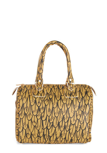Avian Aplomb Satchel - Yellow, Black, Print, Statement