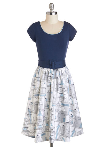 Belt Out a Sweet Birdsong Dress