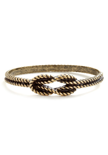 Knot So Fast Bracelet - Gold, Solid, Cutout, Woven, Nautical, Pinup, Work, Gold, Top Rated