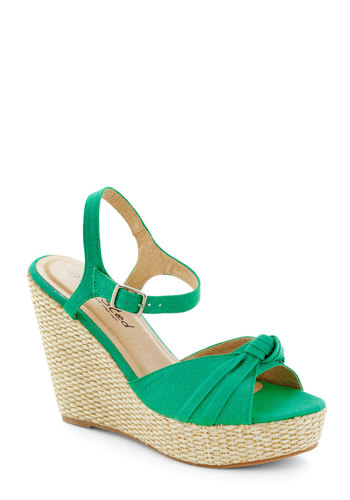Crown Julep Wedge - Green, Daytime Party, High, Platform, Wedge, Solid, Beach/Resort, Summer