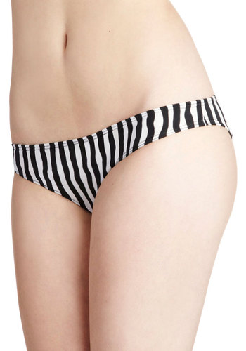 Sun on the Seine Swimsuit Bottom - Black, White, Stripes, Beach/Resort, Summer
