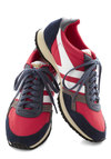 Gola Teamwork and Play Sneakers by Gola - Red, Grey, Solid, Casual, Flat, Blue, White, Colorblocking, Lace Up, Travel