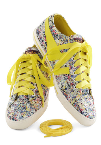 Liberty Locker Bloom Sneaker - Yellow, Multi, Print, Casual, Flat, Spring, Travel