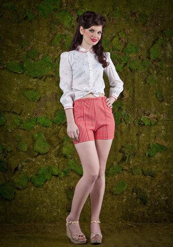Vintage Rhubarb Jam Shorts