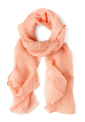 Under the Sea Shell Scarf - Orange, Solid, Pastel, Cotton