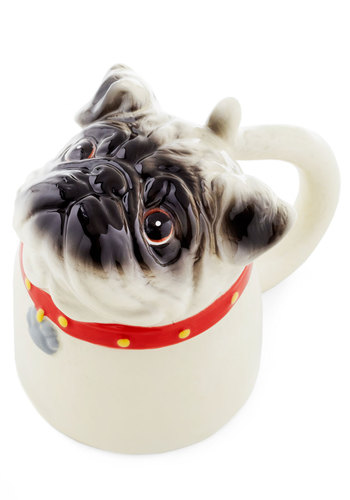Bottoms Pup Mug - Multi, Red, Tan / Cream, Quirky, Good