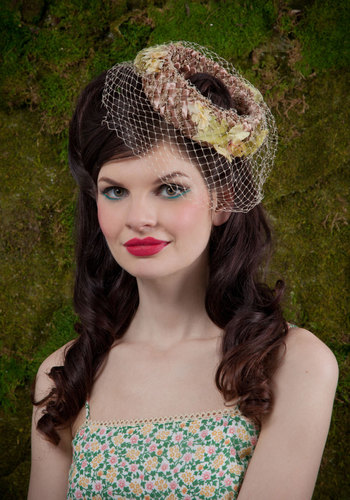 Vintage Dinner of Your Dreams Fascinator