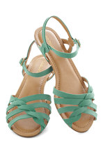 Sealed with a Twist Sandal in Teal