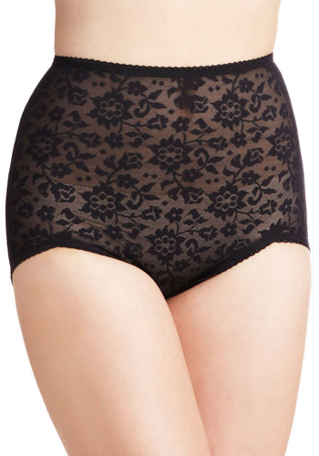 In My Element Undies by Rago - Black, Solid, Lace, Film Noir, Pinup, Vintage Inspired, 40s, 50s, High Waist, Sheer, Boudoir