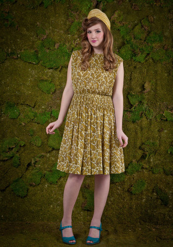 Vintage If I May Be So Gold Dress
