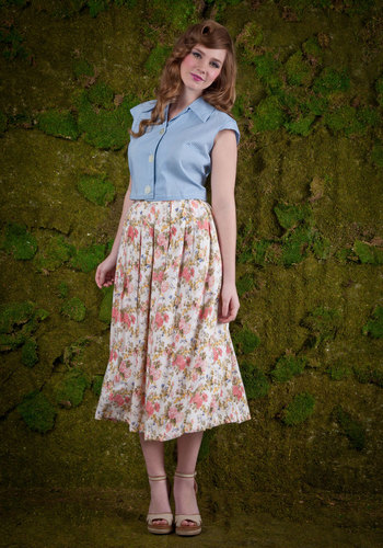 Vintage Rose Well-Traveled Skirt