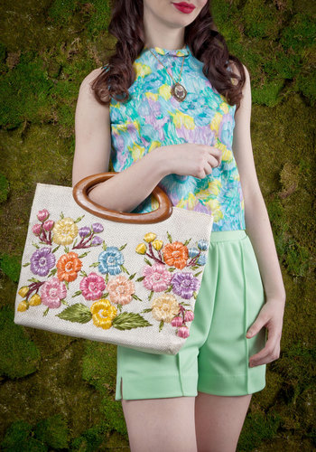 Vintage Flower Garden Tour Bag