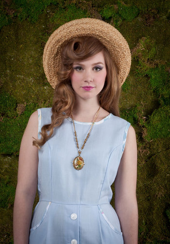 Vintage Botanist Ball Necklace