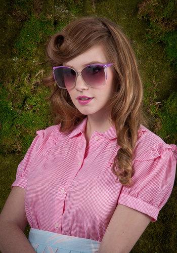 Vintage Violet Visionary Sunglasses