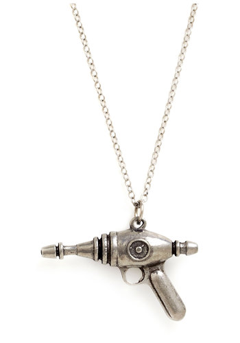 Interplanetary Adventurer Necklace - Silver, Quirky, Scholastic/Collegiate, Solid