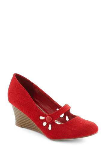 Everywhere You Go Wedge in Red