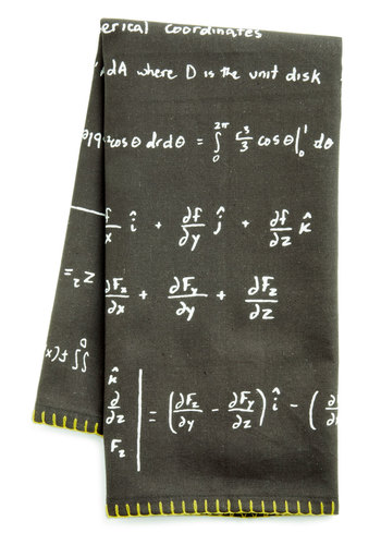As Easy as Pi Tea Towel - Black, Scholastic/Collegiate, Yellow, White, Cotton, Graduation, Good