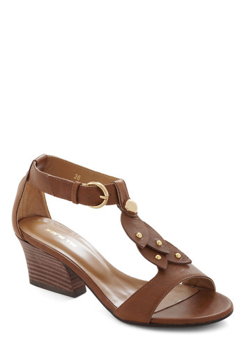 Parklet Inspiration Heel - Tan, Solid, Mid, Leather, Casual, Luxe, Summer