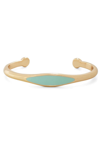 Cool Mint Condition Bracelet - Mint, Gold, Solid, Pastel, Summer, Gold