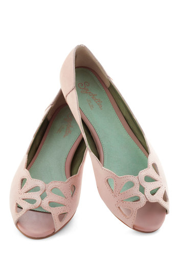 Know What I Mean Flat in Pink by Seychelles - Pink, Solid, Scallops, Flat, Leather, Pastel, Spring, Variation