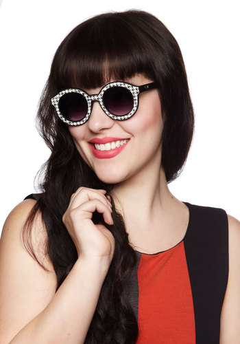 Flashin' Forward Sunglasses by Quay - Black, White, Houndstooth, Statement, International Designer, Vintage Inspired, 60s, Mod, Summer, Beach/Resort