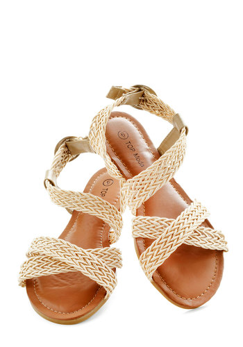 Weave Arrived Sandal - Tan, Braided, Boho, Summer, Flat, Solid, Woven, Casual, Beach/Resort, Travel