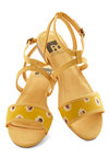 All's Flair in Love Sandal in Floral by BC Footwear - Yellow, Multi, Floral, Flat, Daytime Party, Spring, Summer, Variation