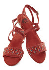All's Flair in Love Sandal in Fans by BC Footwear - Red, Multi, Print, Flat, Casual, Summer, Variation