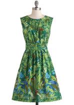 Too Much Fun Dress in Green Floral