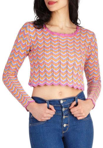 Go Chevron Sweater