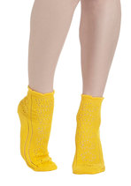 Knit Must Be Love Socks in Yellow