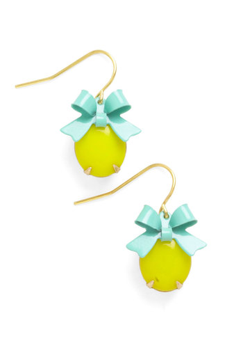 When Life Gifts You Lemons Earrings - Yellow, Mint, Solid, Bows