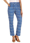 That 70s Flow Pant - Blue, White, Print, Pockets, Casual, Vintage Inspired, 70s, High Waist