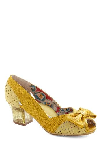Glitter Bow Peep Heel