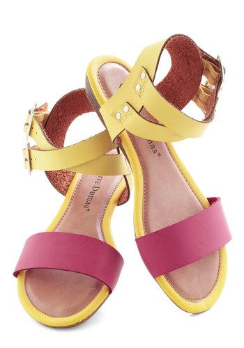 Pink Lemonade Sips Sandal