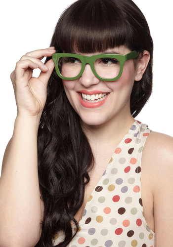 Astute Your Own Horn Glasses - Green, Solid, Scholastic/Collegiate, Summer