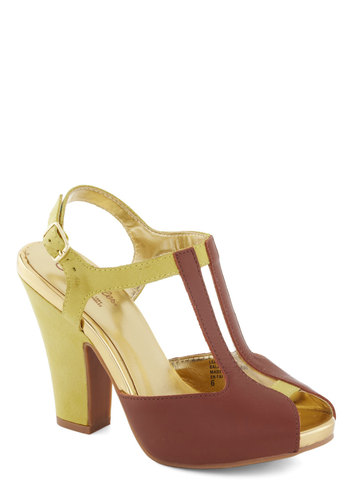 Rosemary Heel by Seychelles - Tan, Yellow, Solid, Mid, Colorblocking, Daytime Party, Summer