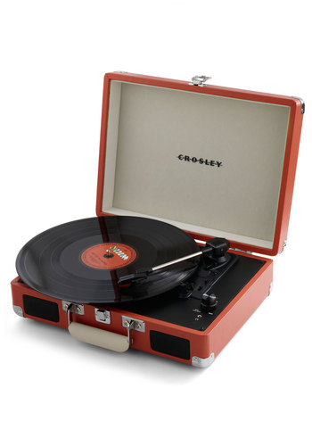 Take Your Turntable in Orange - Orange, Music, Vintage Inspired, Graduation, Variation, Travel, Mid-Century, Best, Halloween, 60s